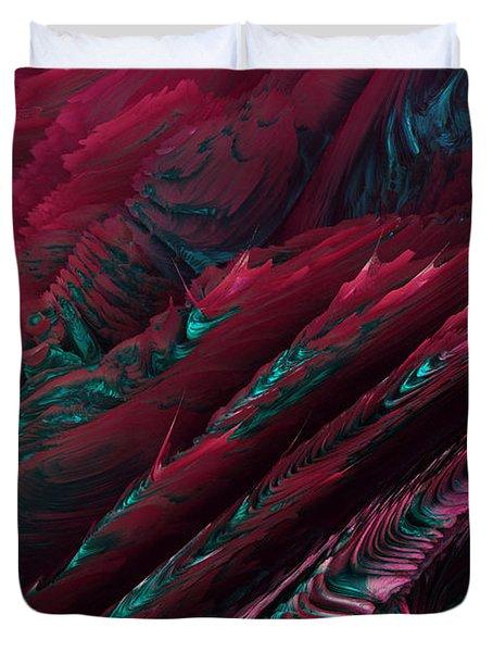 Duvet Cover featuring the digital art 112815 by Matt Lindley