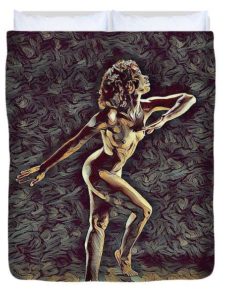 1192s-zac Nudes In The Style Of Antonio Bravo  Duvet Cover