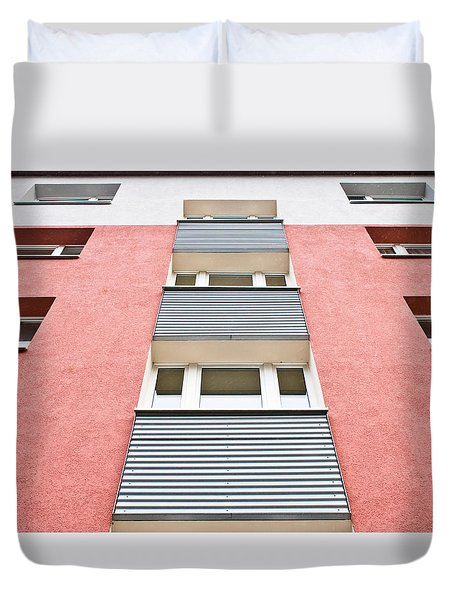 Apartment Building Duvet Cover