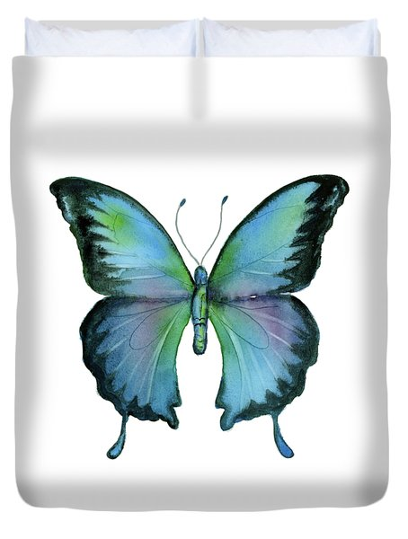 12 Blue Emperor Butterfly Duvet Cover
