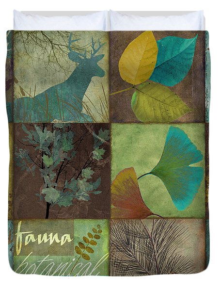 12 Days In The Woods Duvet Cover