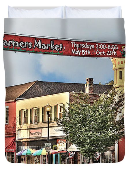 Downtown Perrysburg Duvet Cover