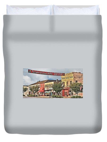 Downtown Perrysburg Duvet Cover