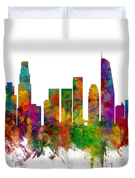 Los Angeles California Skyline Duvet Cover