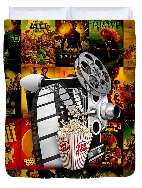 Movie Room Decor Collection Duvet Cover by Marvin Blaine