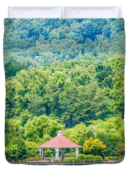 Scenery Around Lake Lure North Carolina Duvet Cover