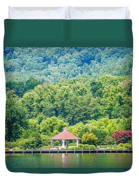 Scenery Around Lake Lure North Carolina Duvet Cover