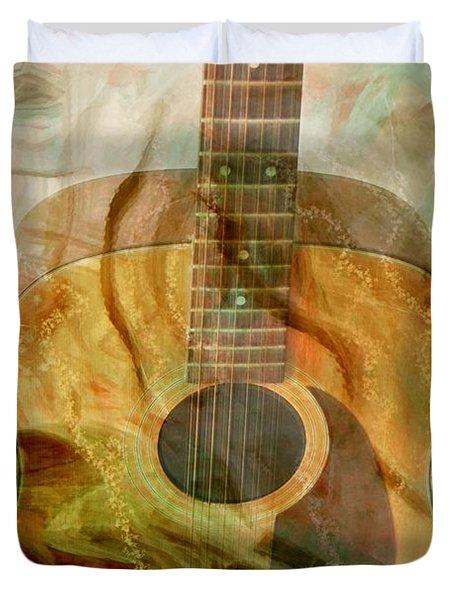 12 String Duvet Cover by Linda Sannuti