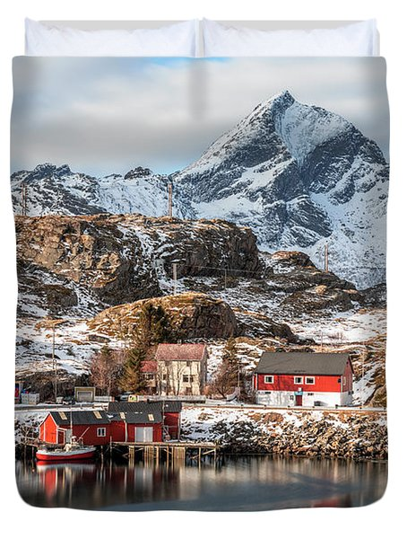 Sund, Lofoten - Norway Duvet Cover