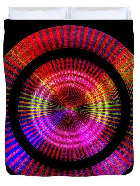 Duvet Cover featuring the digital art #1227201153 by Visual Artist Frank Bonilla