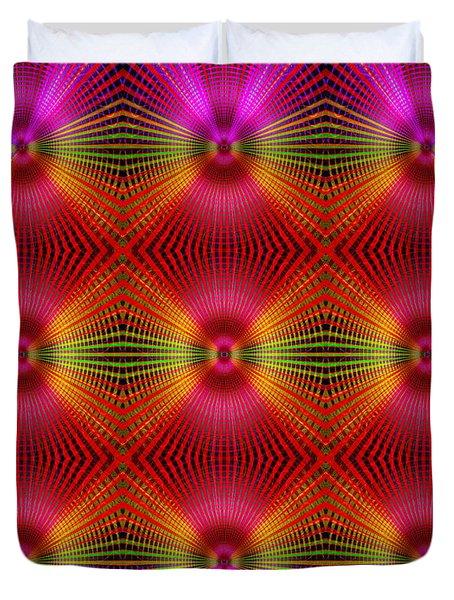 Duvet Cover featuring the digital art #122720154 by Visual Artist Frank Bonilla