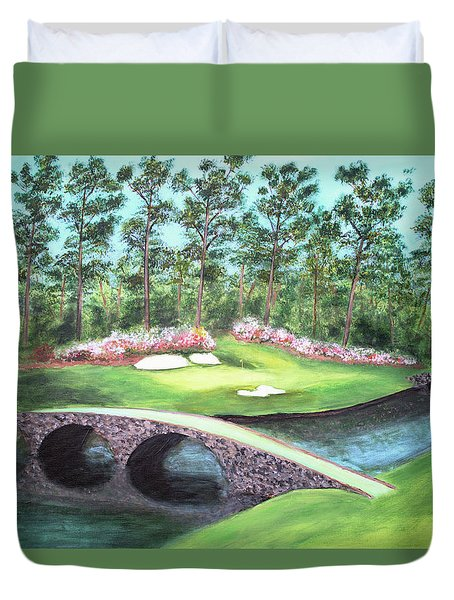 12th Hole At Augusta National Duvet Cover