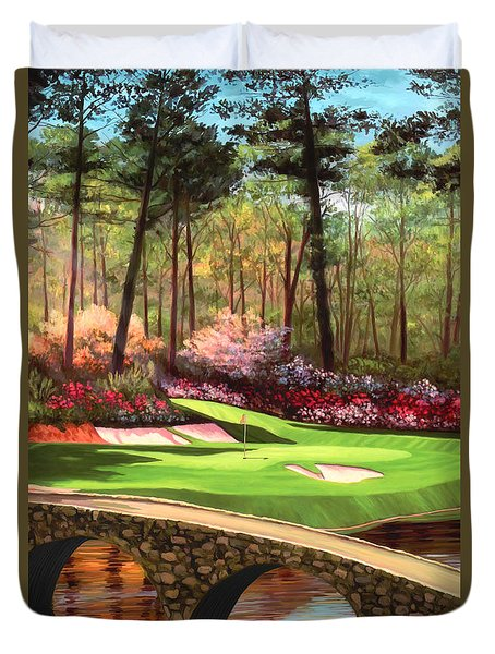 12th Hole At Augusta Ver Duvet Cover by Tim Gilliland