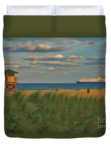 Duvet Cover featuring the photograph 13- Cruising In Paradise by Joseph Keane