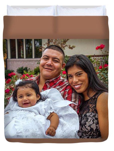 Cruz Baptism Duvet Cover
