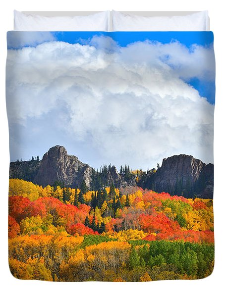 Kebler Pass Fall Colors Duvet Cover