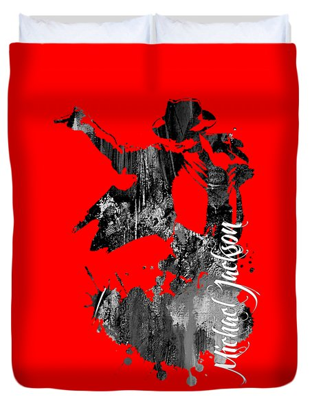Michael Jackson Collection Duvet Cover by Marvin Blaine
