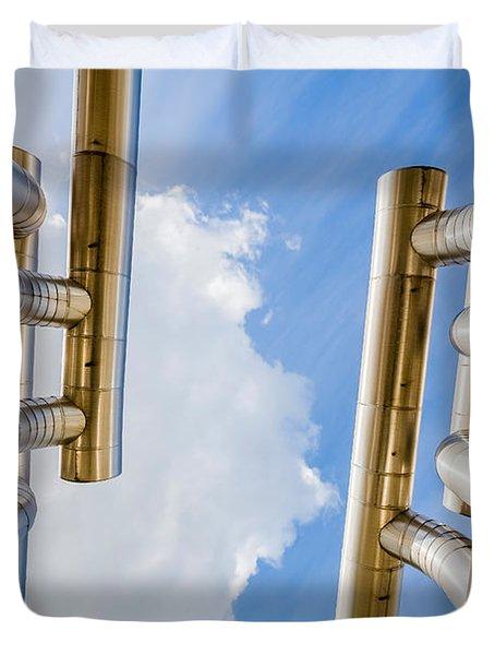 Pipes At Nesjavellir Geothermal Power Duvet Cover