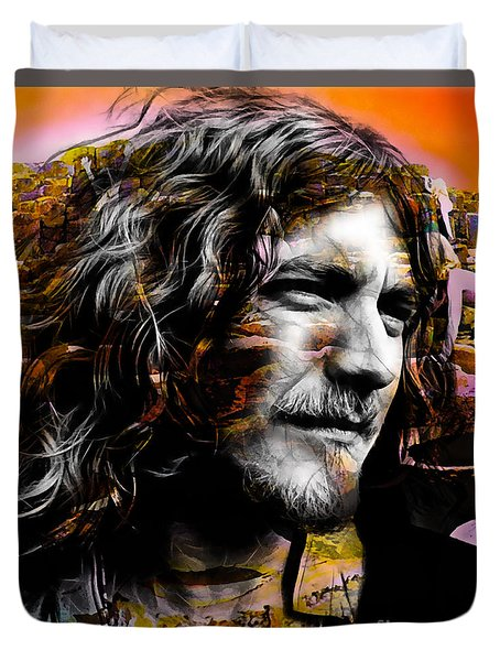 Robert Plant Collection Duvet Cover by Marvin Blaine