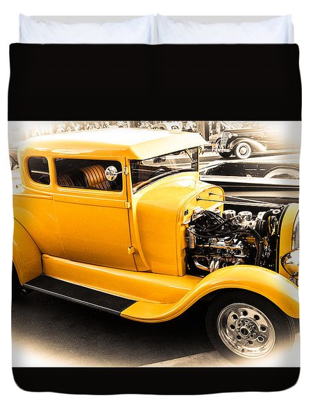 Vintage Car Duvet Cover