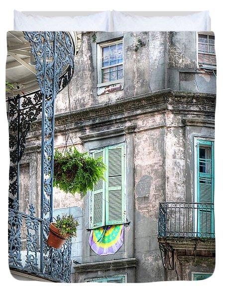 1358 French Quarter Balconies Duvet Cover