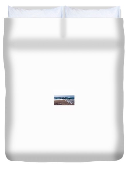 A Crash Of Waves.  Duvet Cover