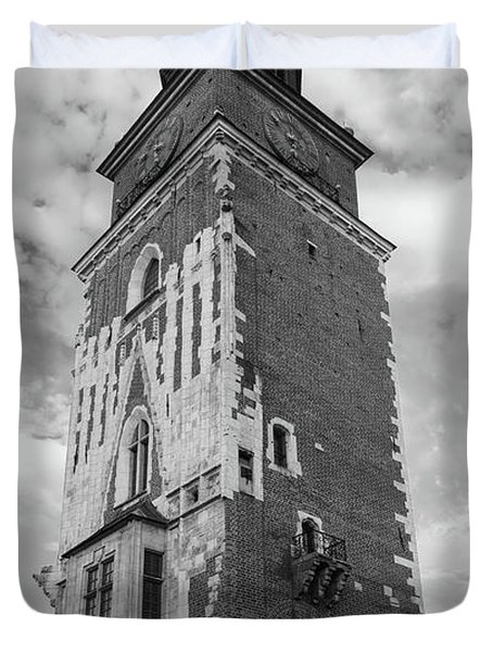 13th Century Town Hall Tower Krakow Poland Duvet Cover