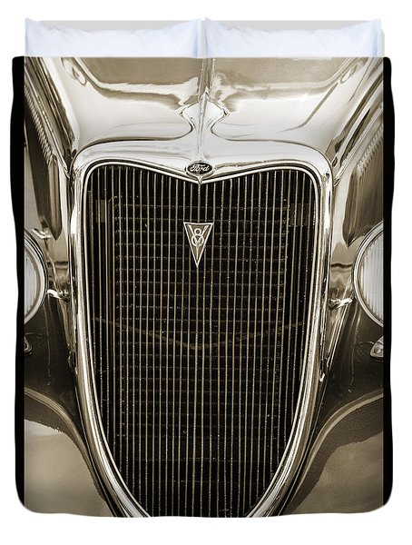 1934 Ford Sedan Antique Vintage Photograph Fine Art Print Collec Duvet Cover