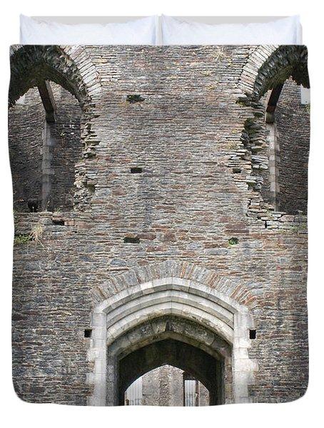 Caerphilly Castle Duvet Cover