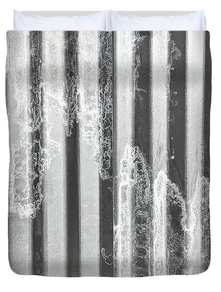 Corrugated Metal Duvet Cover