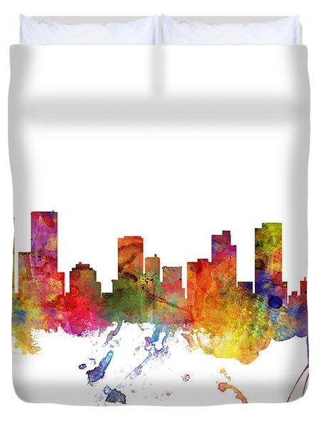 Denver Colorado Skyline Duvet Cover