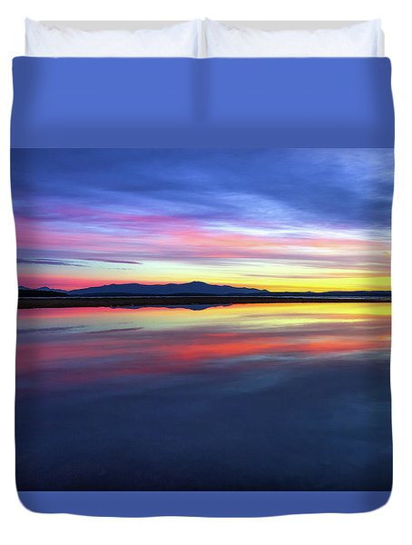 Lake Winnipesaukee - Layers Duvet Cover