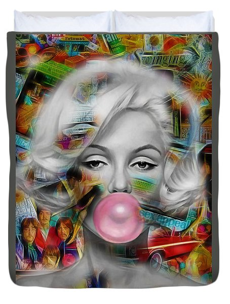 Marilyn Monroe Collection Duvet Cover by Marvin Blaine