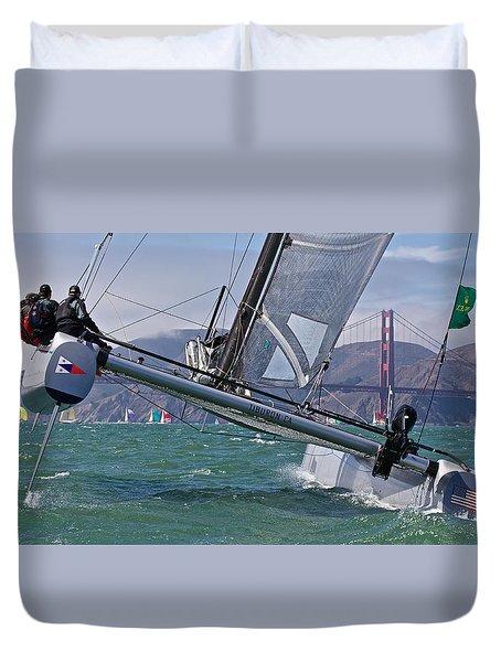 Rolex Regatta San Francisco Duvet Cover