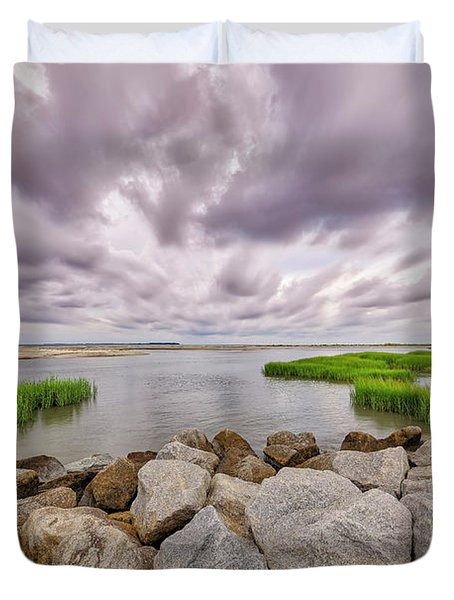 Seascape Of Hilton Head Island Duvet Cover
