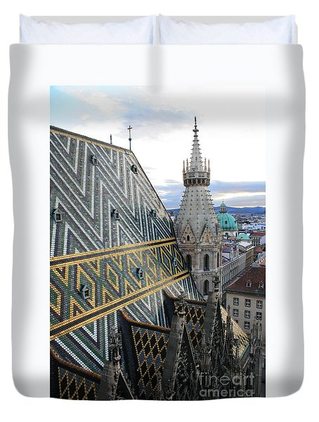 St Stephens Cathedral Vienna Duvet Cover