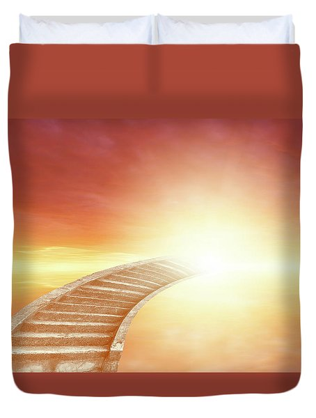 Duvet Cover featuring the photograph Stairway To Heaven by Les Cunliffe