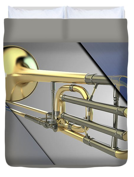 Trombone Collection Duvet Cover by Marvin Blaine