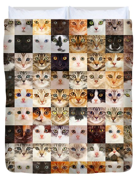 140 Random Cats Duvet Cover