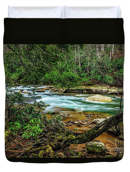 Duvet Cover featuring the photograph Back Fork Of Elk River by Thomas R Fletcher