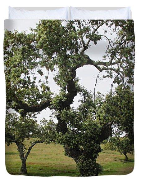 Mediterranean Oaks Duvet Cover
