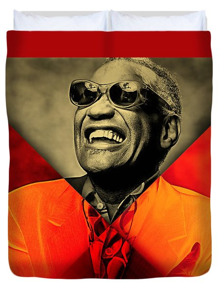 Ray Charles Collection Duvet Cover by Marvin Blaine