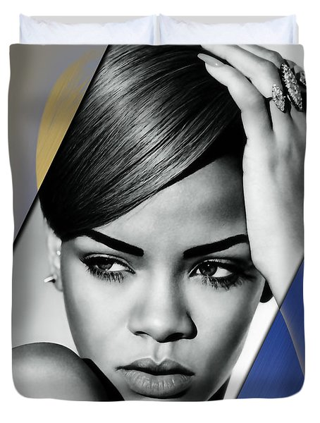 Rihanna Collection Duvet Cover by Marvin Blaine