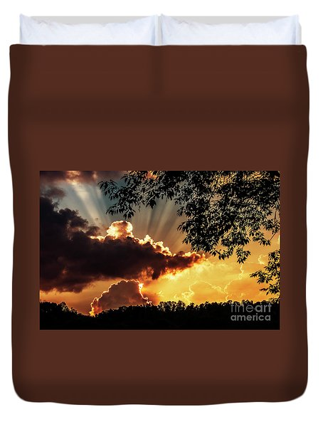 Duvet Cover featuring the photograph Appalachian Sunset by Thomas R Fletcher