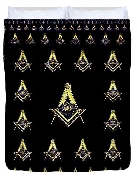 Freemason Symbolism Duvet Cover