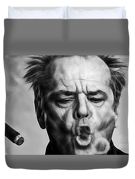 Jack Nicholson Collection Duvet Cover by Marvin Blaine