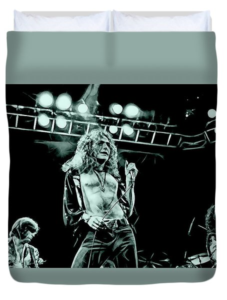 Led Zeppelin Collection Duvet Cover by Marvin Blaine
