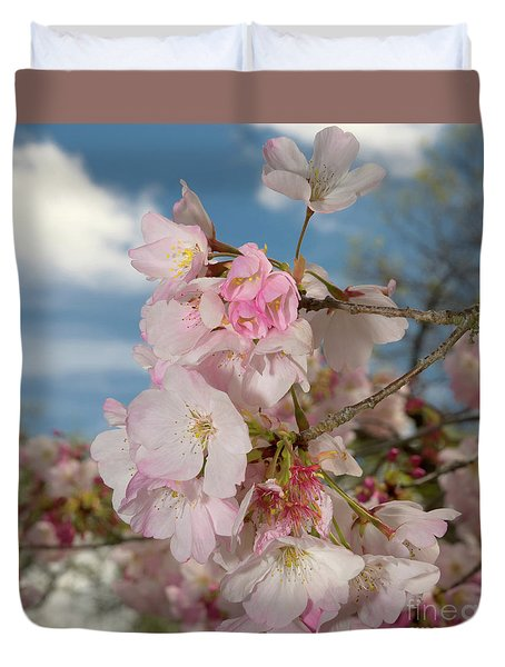 Silicon Valley Cherry Blossoms Duvet Cover by Glenn Franco Simmons