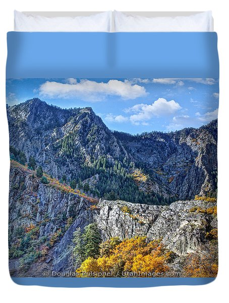 Wasatch Mountains Of Utah Duvet Cover