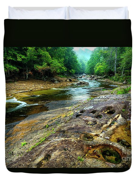 Duvet Cover featuring the photograph Williams River Summer by Thomas R Fletcher